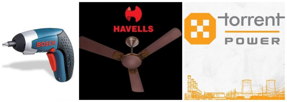 Bosch, Havells and Torrent Power