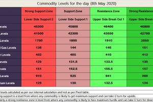Commodity Levels for the day