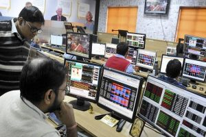 Dalal Street Stock Market Trader Watching Nifty