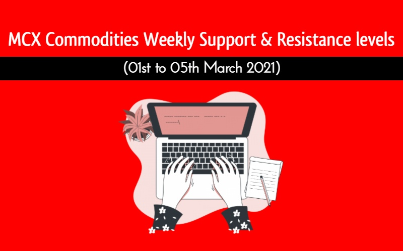 Gold and other MCX Commodities weekly levels