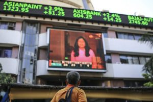 India Vix Trader outside BSE Building