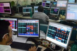 Indian Indices Indian Stock Market Trader With Screen