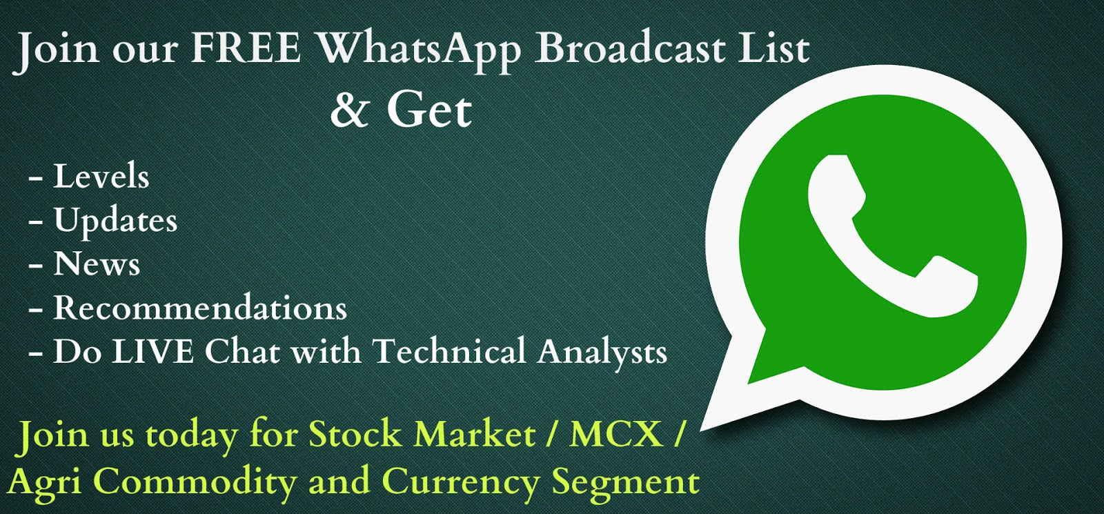 Stock Market Update on WhatsApp