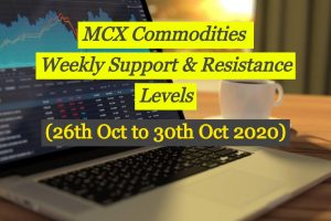 MCX Commodities Weekly Levels 26 Oct to 30 Oct 2020