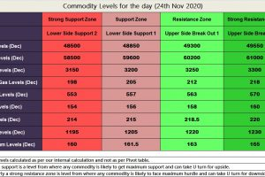 MCX Commodities levels 24th Nov 2020