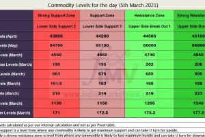 MCX Commodity Levels