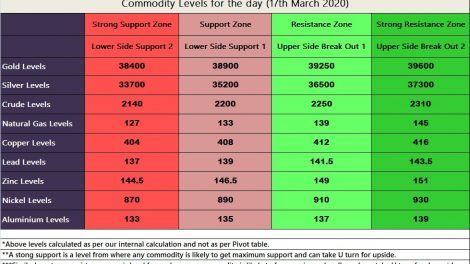 MCX Commodities Levels