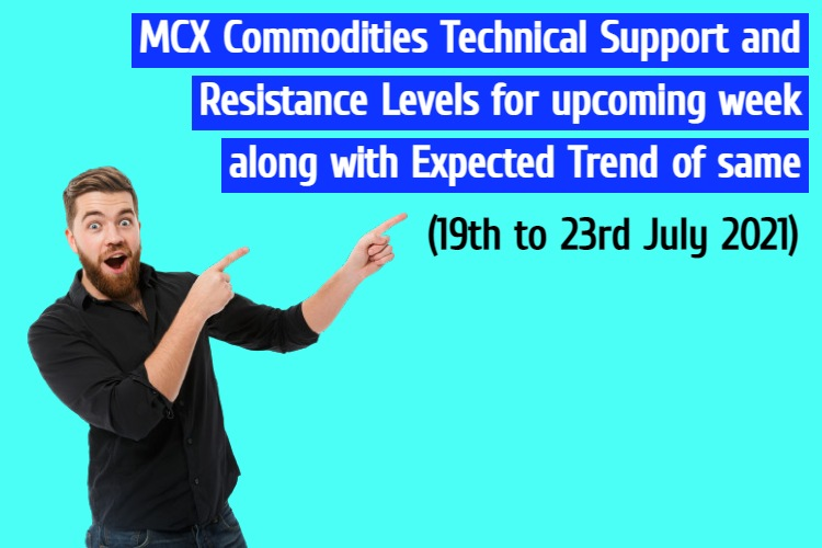 MCX Commodities Weekly Support and Resistance 11