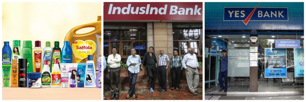 Marico. Indusind Bank and Yes Bank