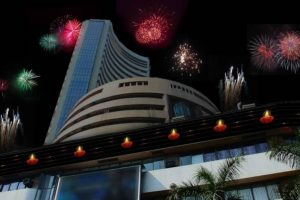 Nifty and Bank Nifty Diwali celebrations on BSE Building