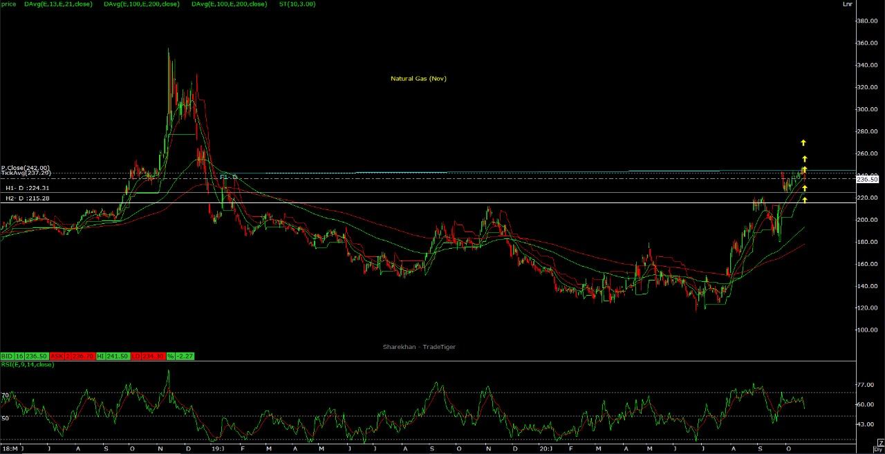 Technical Chart of Natural Gas
