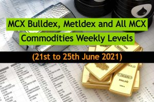 MCX Levels 21 to 25 June 2021